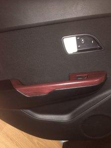 Image 4 - 2 piezas 100*30cm puerta segura de automóviles Panel de Control Central Etiqueta de grano de madera impermeable Cambiar Color estilismo DIY rollo de envoltura