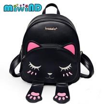 Mode Katze Rucksack Frauen Cartoon Schultaschen Für Jugendliche Mädchen Pu-leder Frauen Rucksack Marken Mochila Weiblich Sac nbxq54