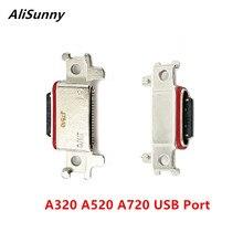 AliSunny 10 adet USB Dock konektörü SamSung Galaxy A320 A520 A720 2017 şarj şarj portu mikro soket A3 A5 a7 parçaları
