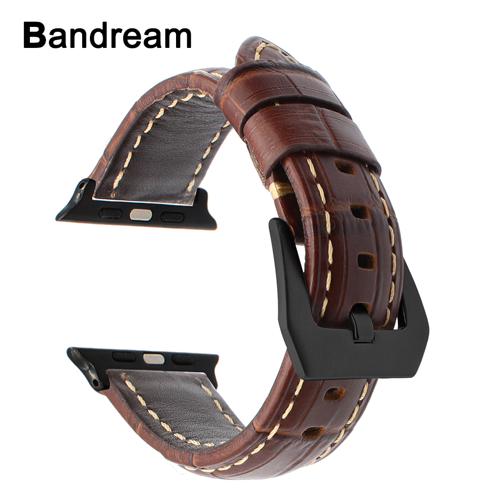 Italian Genuine Calf Leather Watchband for iWatch Apple Watch 38mm 42mm Series 1 2 3 Band Alligator Grain Strap Wrist Bracelet italian genuine calf leather watchband for iwatch apple watch 38mm 42mm series 1 2 3 band alligator grain strap wrist bracelet