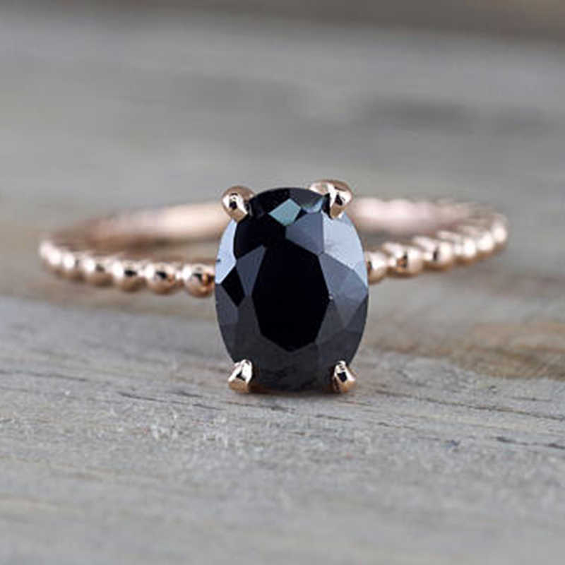 f3fddf6223435 Detail Feedback Questions about Black Stone Rings for Women Wedding ...