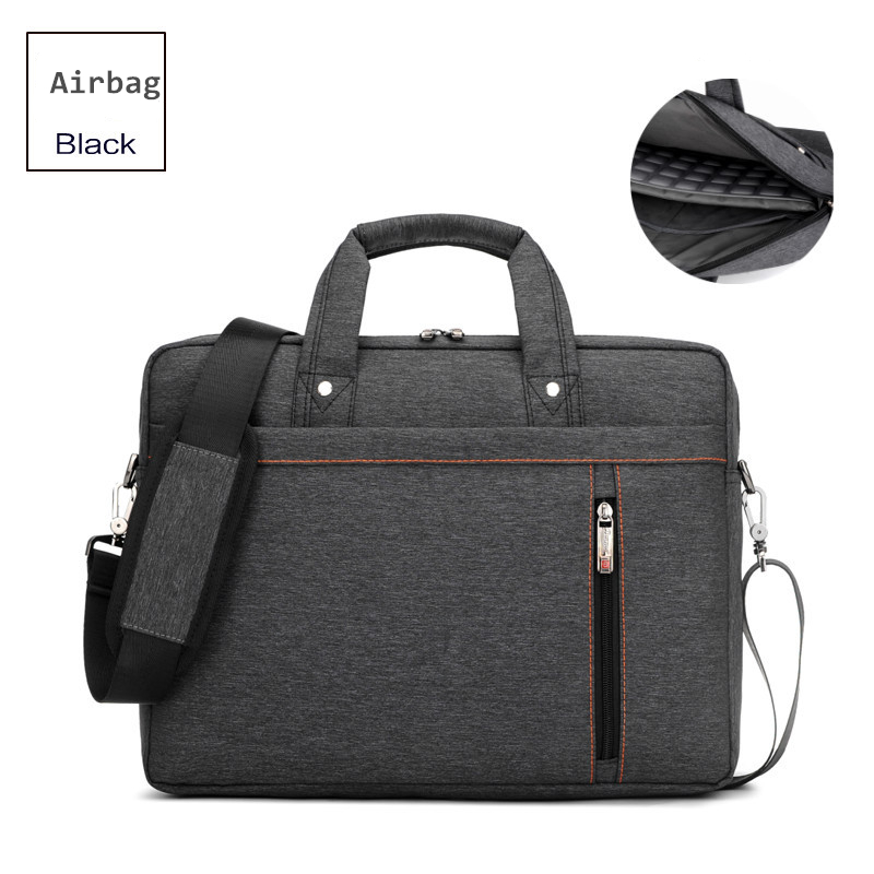 Burnur New 13.3 14.1 15.6 17.3 Inch Laptop Bag Shockproof Airbag Waterproof Computer Bag Thick Notebook Sholder Bag men Women