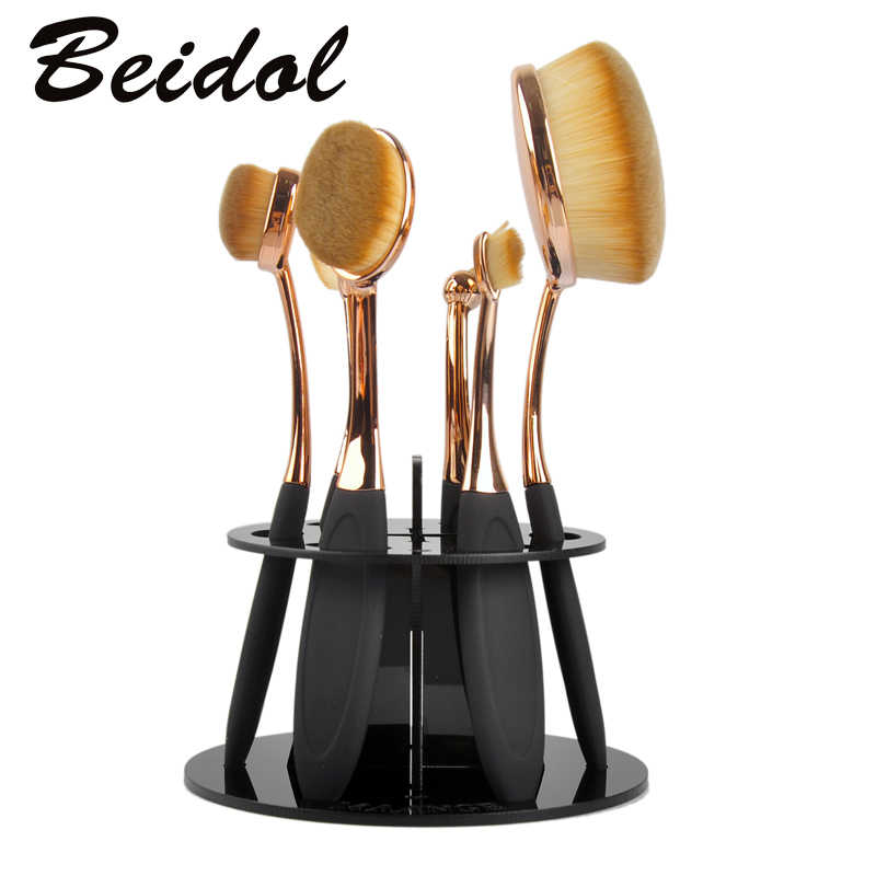 Hot 6 Hole Oval Makeup Brush professional Holder Drying Rack Organizer Beauty Shelf Brand Make up Tools free shipping