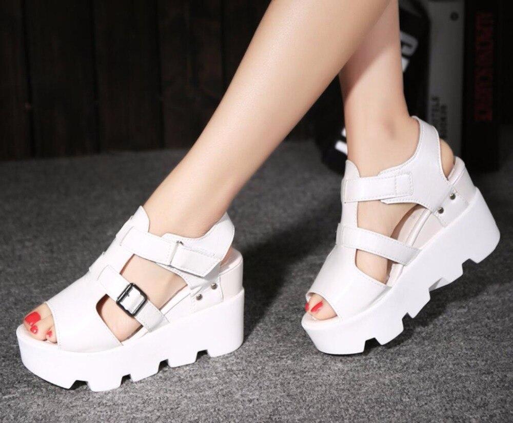 HTB13qfsj1GSBuNjSspbq6AiipXaN 2019 Summer Sandals Shoes Women High Heel Casual Shoes footwear flip flops Open Toe Platform Gladiator Sandals Women Shoes m693