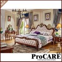 designer modern leather bed / soft bed/double bed king size bedroom furniture