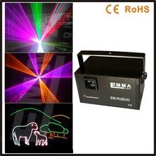 2 вт rgb лазерного 3d rgb лазерный 2 Вт dj света dmx + ilda + sd + 2d + 3d многоцветный