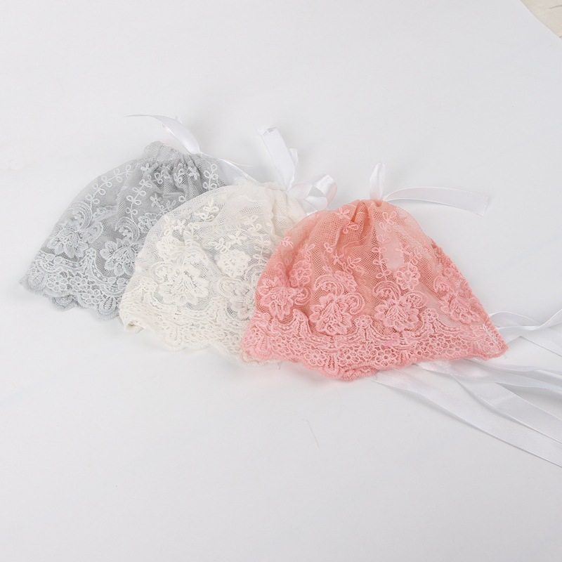 Baby Photography Props lace hat Girl Boy Toddler lovely Infant Kids Caps Newborn Photo Lacing hat solid colors 14X17cm newborn baby photography props infant knit crochet costume peacock photo prop costume headband hat clothes set baby shower gift