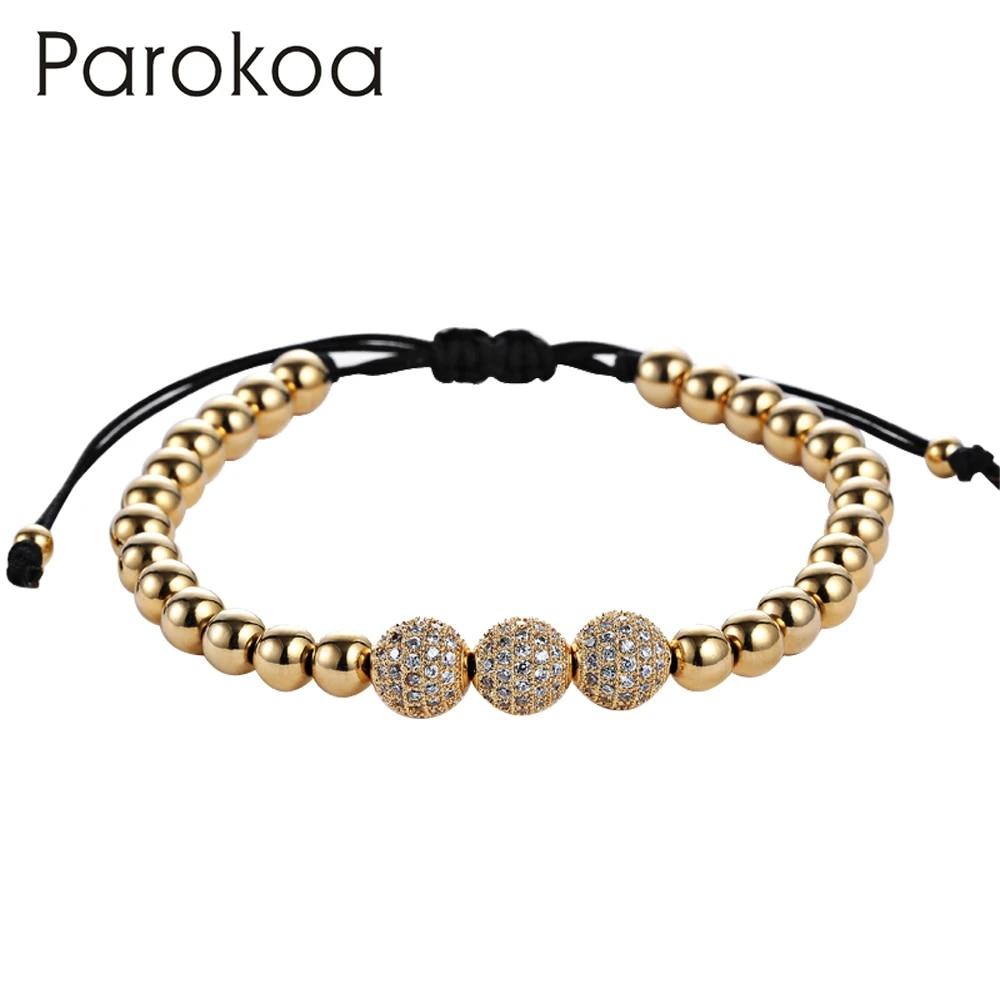 Derniere Macrame Bracelets Perle Modeles Conception 24 K Or Perle De Rocaille Bracelet Conception 6mm Acier Perle De Rocaille Bracelet Pour Femmes Aliexpress