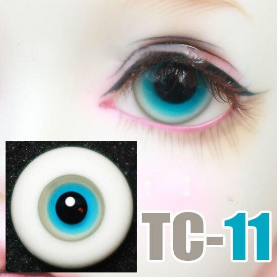 Ojos de muñeca azul gris en capas sin rayas ojos de cristal para 1/3 1/4 1/6 BJD SD DD MSD YOSD tío muñeca ojos de seguridad accesorios TC-11 1:6 modelo de pistola de plástico montar arma de soldado para 12