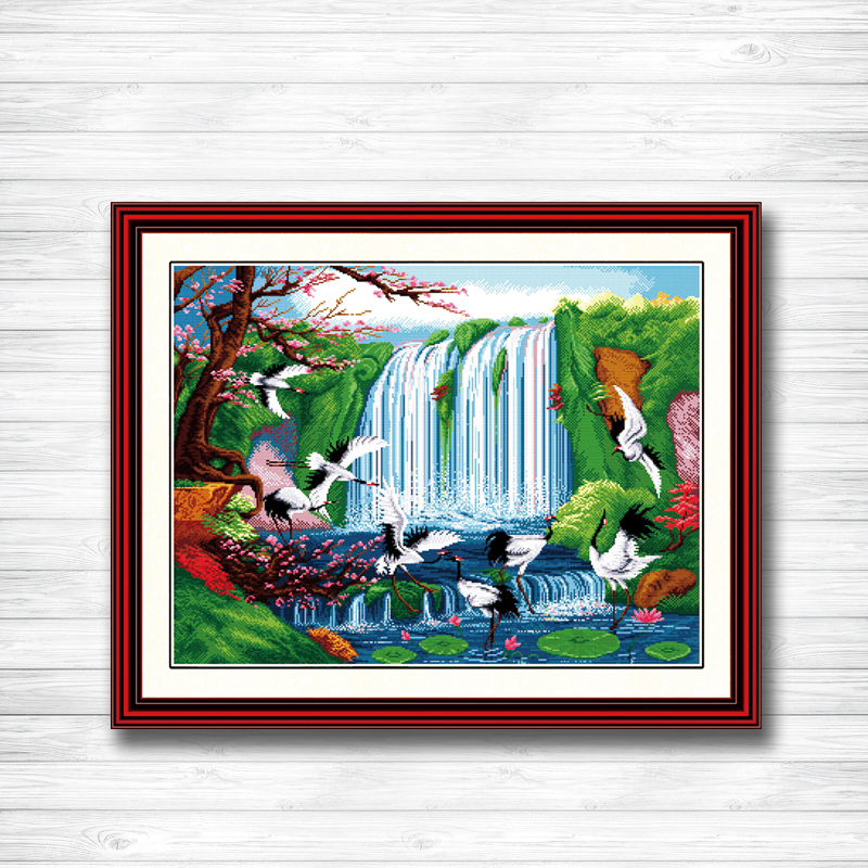 Fairyland On Earth Dmc 14ct 11ct Counted Cross Stitch Needlework Set Embroidery Kits Chinese Cross Stitch Home Decor Waterproof Home & Garden Shock-Resistant And Antimagnetic