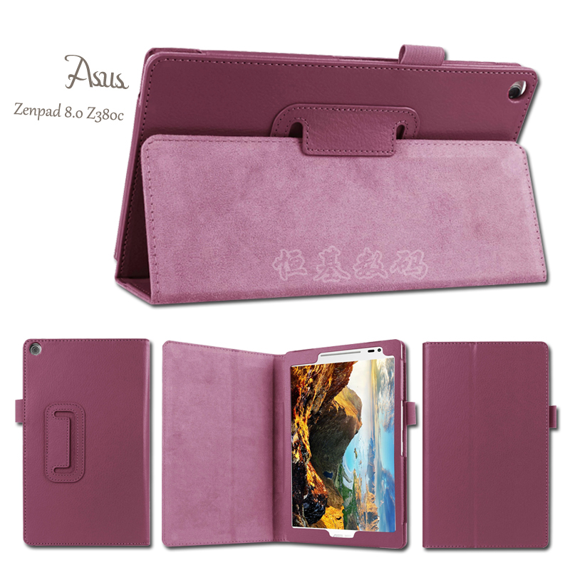New Litchi PU Leather Case Stand Slim Cover For Asus Zenpad 8.0 Z380 Z380C Z380KL Case 8.0 Inch Tablet PC