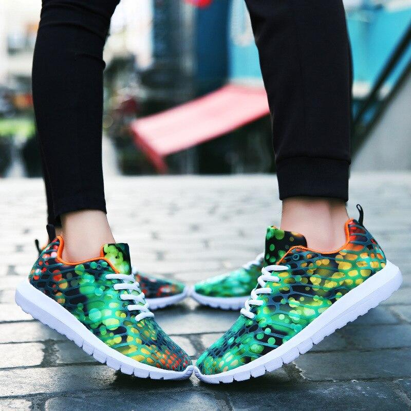 Женские кроссовки мягкой дышащей сетки обувь высокого качества дизайн цветы Лидер продаж ...