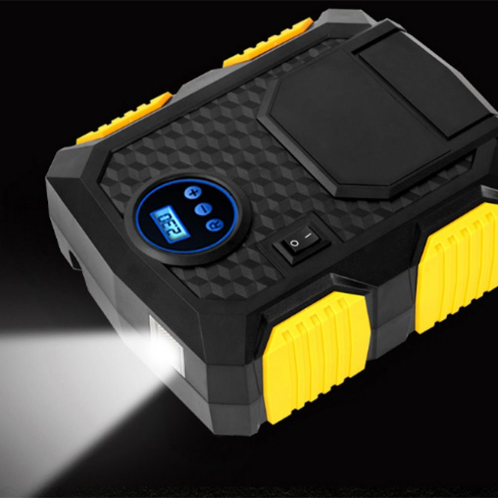 Vehicle Mounted Inflator Pump 22 Cylinder Automobile Belt Lamp Tyre Pump Portable Emergency Digital Display Indicator