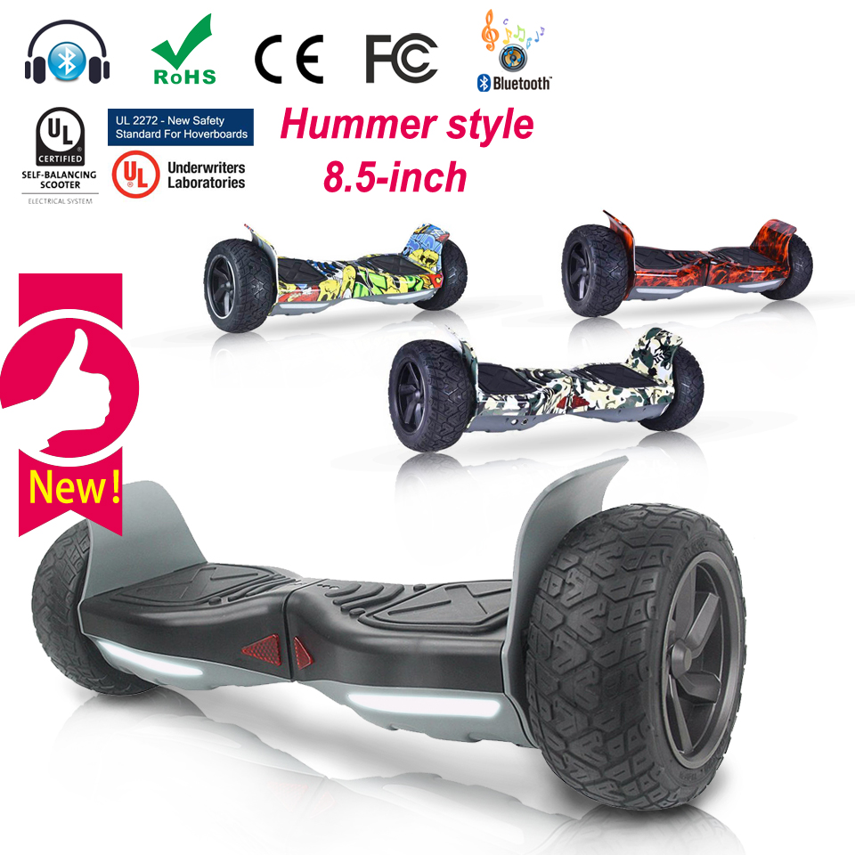 цены  Hummer smart self balancing scooter electric 2 two wheel hoverboard Electric skateboard 8.5 inch hover board US Warehouse UL2272