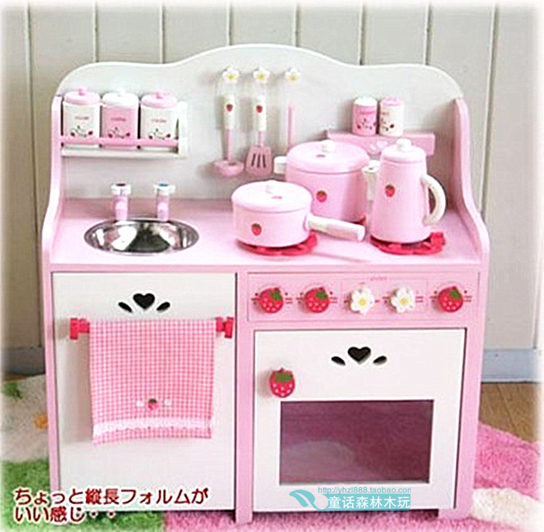 Kitchen Counters On Toys: Mothergarden Strawberry Luxury Super Large Kitchen