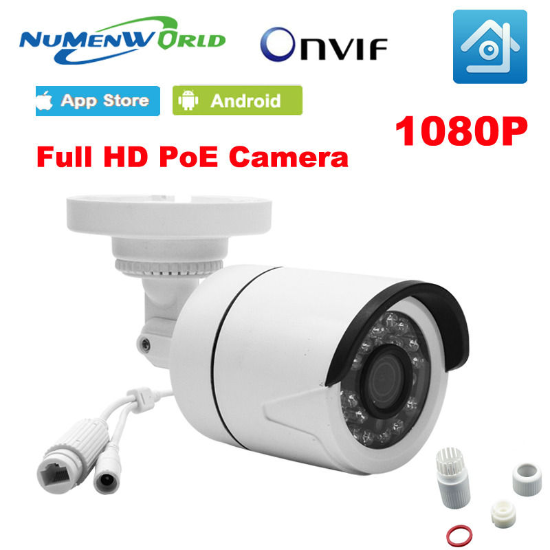 Numenworld 1080P POE IP camera 2MP Waterproof HD CCTV security camera Surveillance IP cam outdoor 48V POE for day and night use