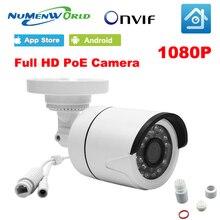 Numenworld 1080 P POE ip-камера 2MP водостойкая HD камера видеонаблюдения ip-камера наблюдения Открытый 48 В в POE для дневного и ночного использования