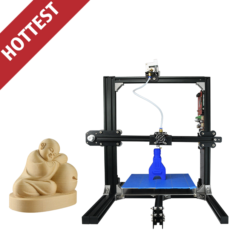 Newest Arrival High Precision Easy Leveling Metal Frame Reprap Prusa i3 3D Printer DIY kit LCD