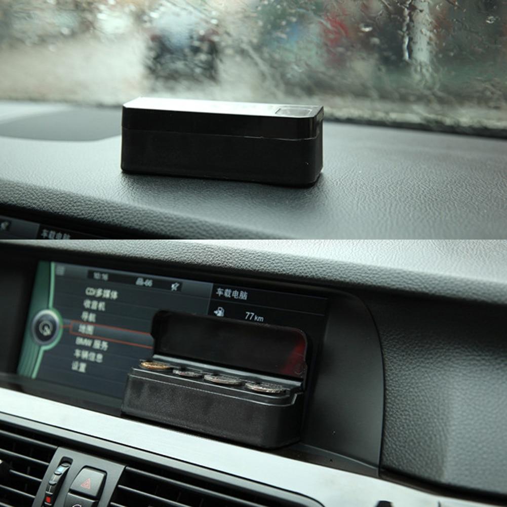 Black Plastics Car Coin Organizer Case Caja de almacenamiento de - Accesorios de interior de coche - foto 5