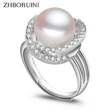 2015 Fashion Pearl Ring Jewelry Of Silver Inlay Zircon Freshwater Pearl Wedding Rings 925 Sterling Silver Rings For Women цена