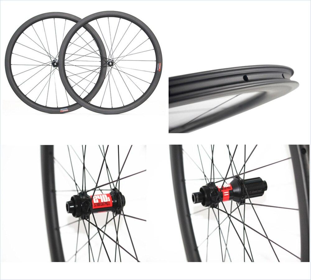Бескамерные циклокросс дисковый тормоз 25 мм U форма 50 38 45 Углеродные, для колес диск для дорожного велосипеда clincher Велосипедный спорт велоси