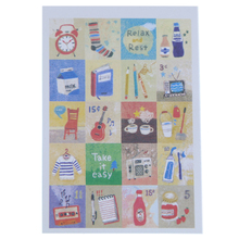 1pcs New Korea Hand painted Paper Folding Stamp Sticker Decorative Toy Stickers For Decoration Scrapbooking Diary