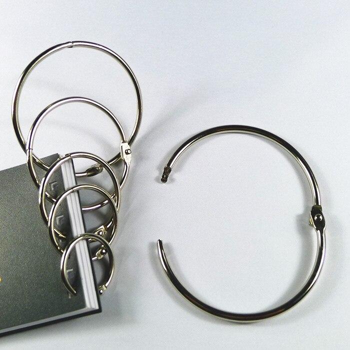 Купить с кэшбэком 4Pcs/lot Metal Ring Binder 15 - 75mm DIY Albums Loose-leaf Book Hoops Opening Office Binding Supplies
