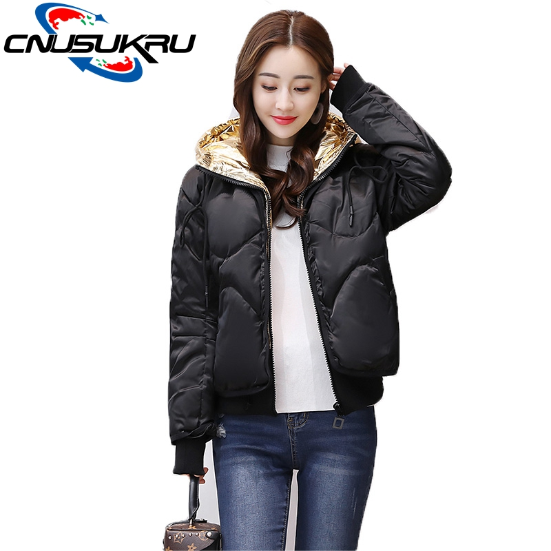 fashion Ukraine womens jackets autumn winter coat 2017 new short bomber hooded warm cotton jacket Ladies casual baseball outwear 2017 ukraine exclusive custom winter coat magic cloth dolls and original sweet bunny ears hooded casual loose lovely cotton