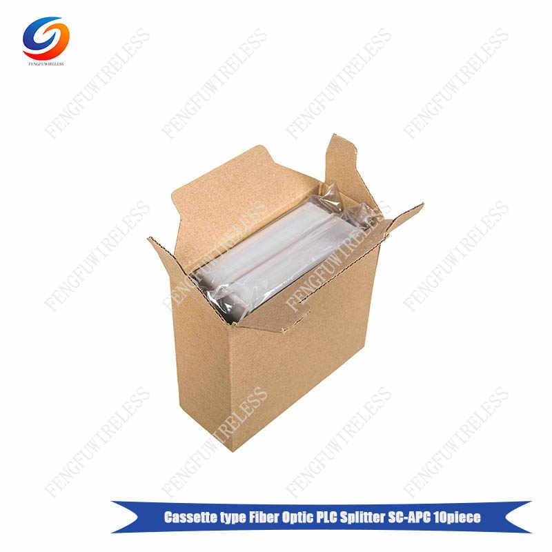 شحن مجاني 5 قطعة/الوحدة الألياف مقسم PLC للألياف الضوئية 1x8 LGX كاسيت مربع SC/APC PLC الفاصل بطاقة إدراج