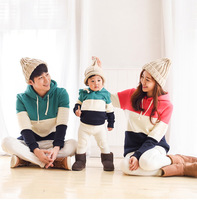 Matching Family Look Christmas Pajamas Clothes for Family Winter Warm Long Sleeve Hoodies Father Mother Daughter Baby Girl Boy
