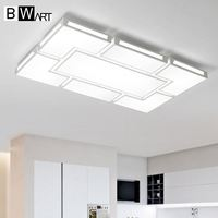 BWART Surface Mounted Modern Led Ceiling Chandelier Lights For Living Room Bedroom White Color Chandelier Acrylice