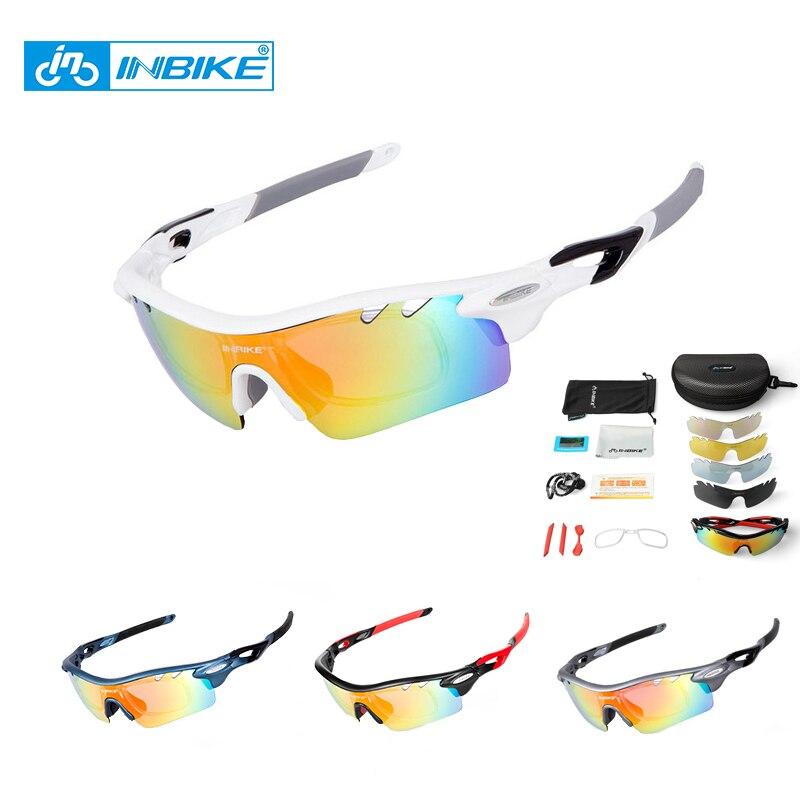Prix pour INBIKE 5 Verres Polarisés Vélo Lunettes Hommes lunettes de Soleil Lunettes De Sport Lunettes De Vélo Cyclisme lunettes de Soleil Gafas Ciclismo