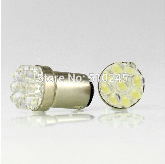 4 pcs/lot Wholesale Car Bulb Lamp 1156 382 BA15S P21W Turn Signal Tail Brake 9 LED Light White free shipping