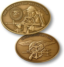 U.S. Navy SEAL / Naval Special Warfare Command - Bronze Challenge Coin, 100pcs/lot DHL free shipping