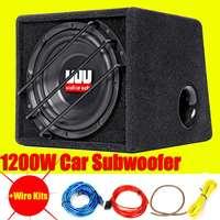 10 дюймов 1200 Вт автомобильный сабвуфер Мощный сабвуфер авто супер бас автомобильный аудио динамик активный сабвуфер встроенный усилитель а