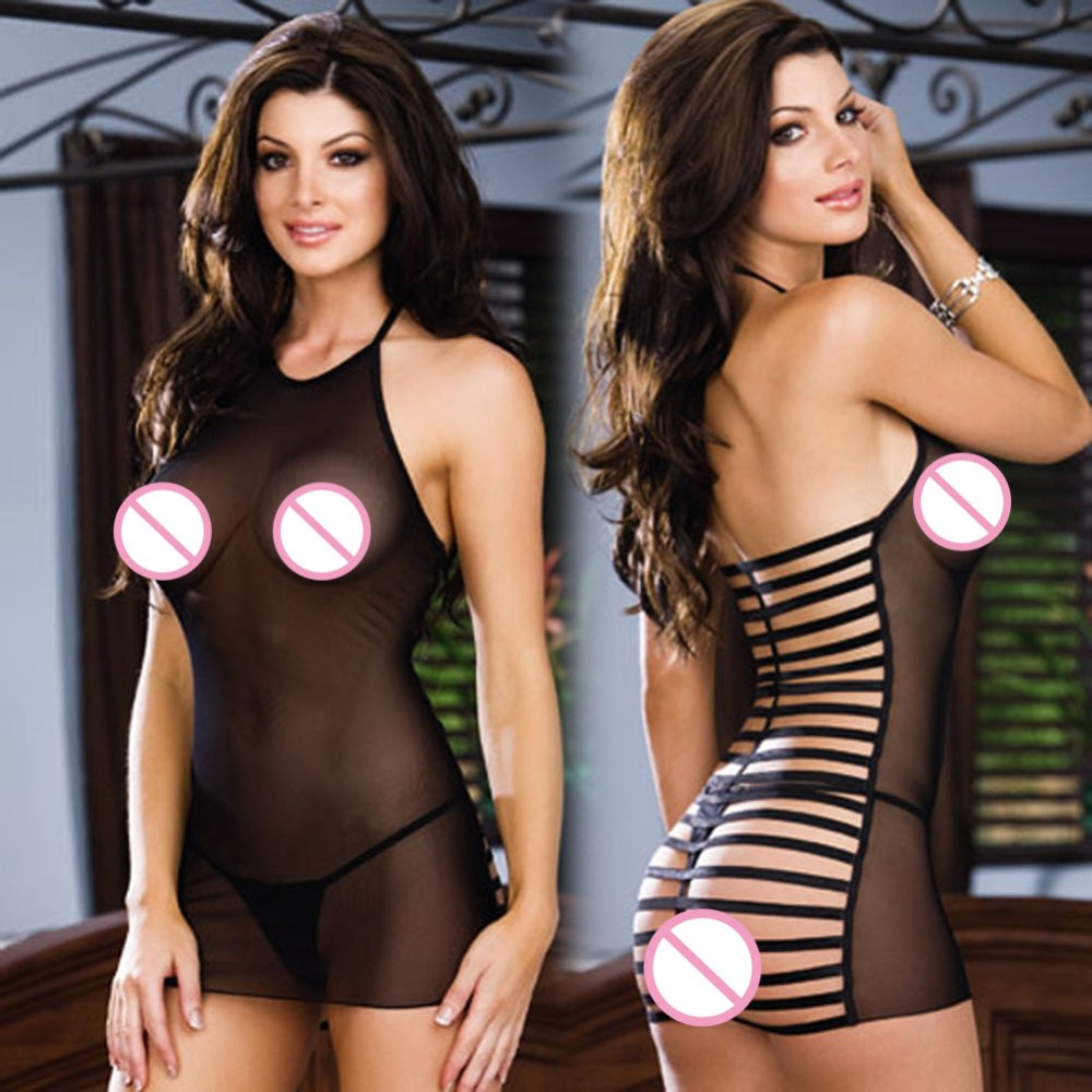 <font><b>sexy</b></font> <font><b>lingerie</b></font> For Women <font><b>erotique</b></font> Exposure Black Butt Perspective Customes temptation pajamas <font><b>Lingerie</b></font> Dress <font><b>femme</b></font> lenceria dress image