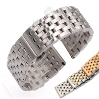 Watch Band Strap Stainless Steel 20mm 22mm Men Women Straight End Bracelet Silver Rose Gold Watchband