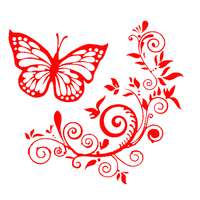 Butterfly Flower Car-Styling Vehicle Body Window Reflective Decals Sticker Decor 4