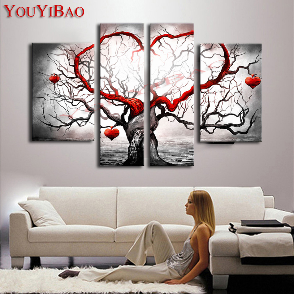 YouYiBao Oil Painting Modern Abstract Hand Painted Home Walls