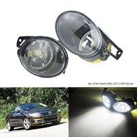 ANGRONG For VW Passat 3C B6 06 10 Front Bumper Fog Driving Light Lamp 45W SAMSUNG LED Bulbs