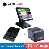 Конкурентоспособная цена 15 дюймов Epos точек продаж pos все в одном windows с денежный ящик и принтер