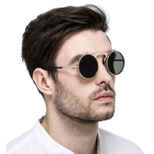 Vintage Steampunk Sunglasses Women Round Metal Frames Steam punk Sun Glasses Men Brand Designer Retro Eyewear UV400