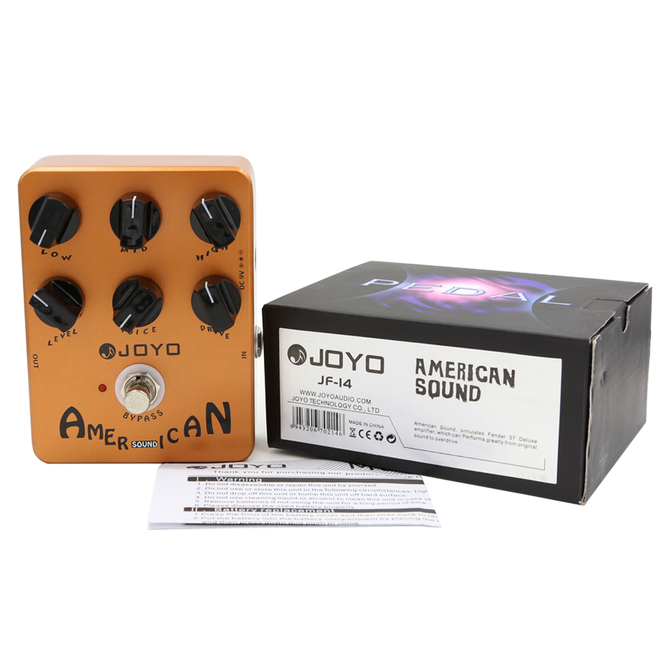 JOYO JF-14 Electric Guitar Effects Pedal American Sound Speaker simulator Effect Pedal Stompbox True Bypass joyo jf 16 bypass design brithish sound guitar effect amplifier simulator pedal purple