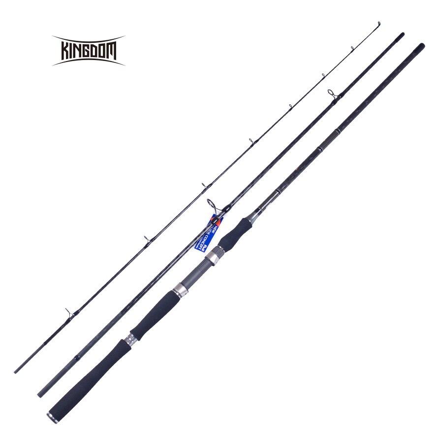 Kingdom fishing rod lure storm three pieces 2.7m 2.88m 3.18m good quality stright Fuji accessories