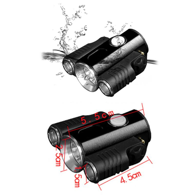 2017 Bike Front Light 10000mah High Beam and Low Beam Bicycle Headlight Led Warning White Flashlight Cycling Lamp Para Bisiklet night lord 2pcscar led light h4 headlight head lamp dipped beam low beam or high beam hi lo 6000k white for fit 2011 2015 year