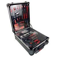 Free shipping 186pcs /set CR v steel car fix tool household tool set hand tool sets in aluminium alloy draw bar box