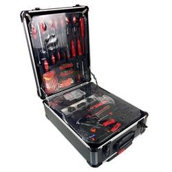 Freies verschiffen 186 teile/satz CR-v stahl auto fix werkzeug haushalt werkzeug set hand werkzeug sets in aluminium legierung draw-bar box