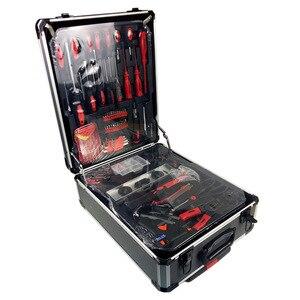 Livraison gratuite 186 pièces/ensemble cr-v acier voiture fix outil ménage outil ensemble main outils ensembles en alliage d'aluminium dessiner-bar boîte
