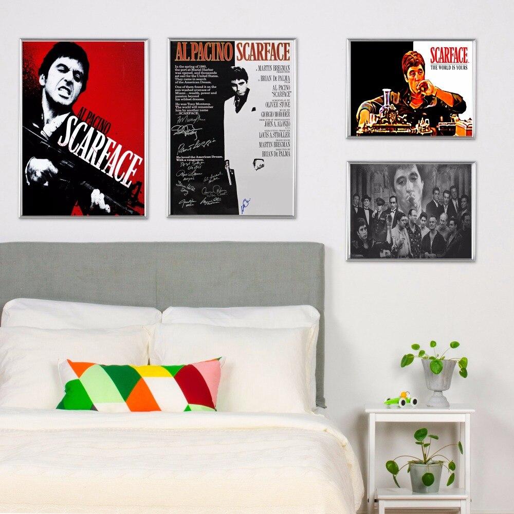 Scarface Movie handyfall harte Vintage Leinwand Kunstdruck Malerei ...