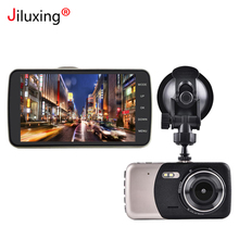 Jiluxing Car DVR 4 Inch IPS Screen Auto Camera Dual Lens FHD 1080P Dash Cam Video Recorder Night Vision G-sensor 170 Degree